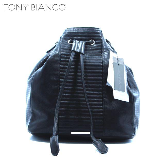 Winter Black Duffle Bag - Tony Bianco Handbags - Front