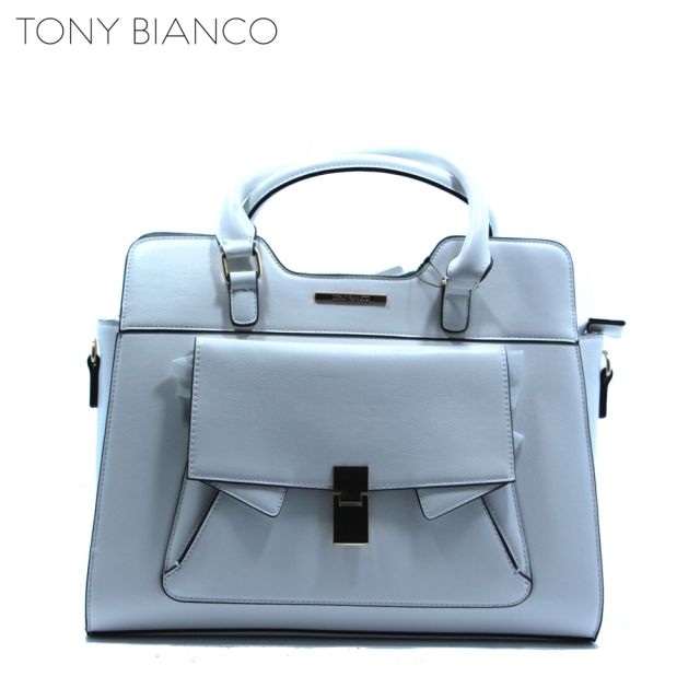 Eva White Satchel Bag - Tony Bianco Handbags - Front