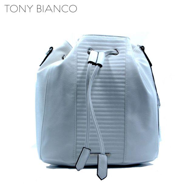Winter White Duffle Bag - Tony Bianco Handbags - Front