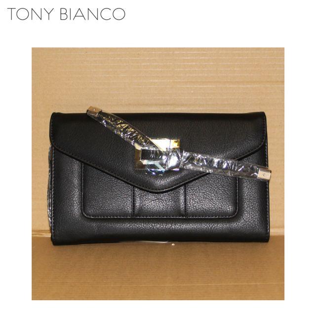 Tyler Black Tassel Tie Wallet - Tony Bianco Purse - Front 2