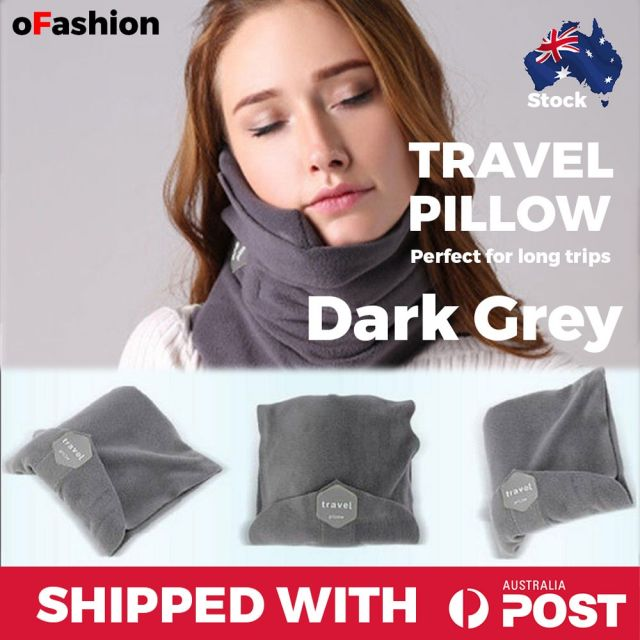 Travel Pillow Dark Grey
