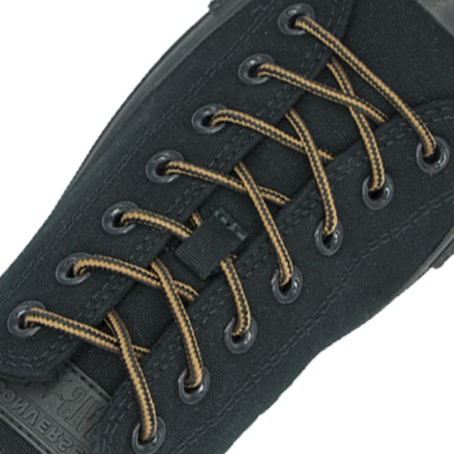 Two Tone Bootlace Shoelace Brown Black 100cm - Ø4mm
