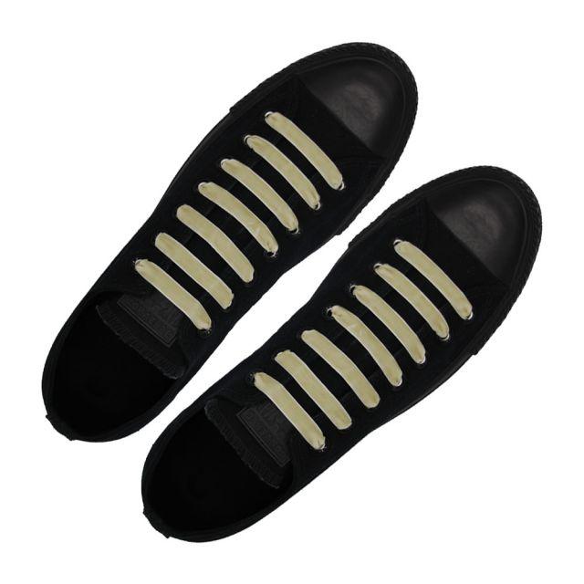 Velvet Ribbon Shoelaces - Beige L: 80cm W: 1cm oFashion