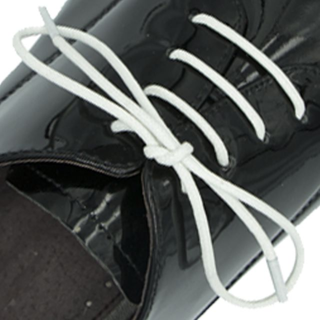 Waxed Cotton Dress Shoelaces - White 60cm Length 2.5mm Round