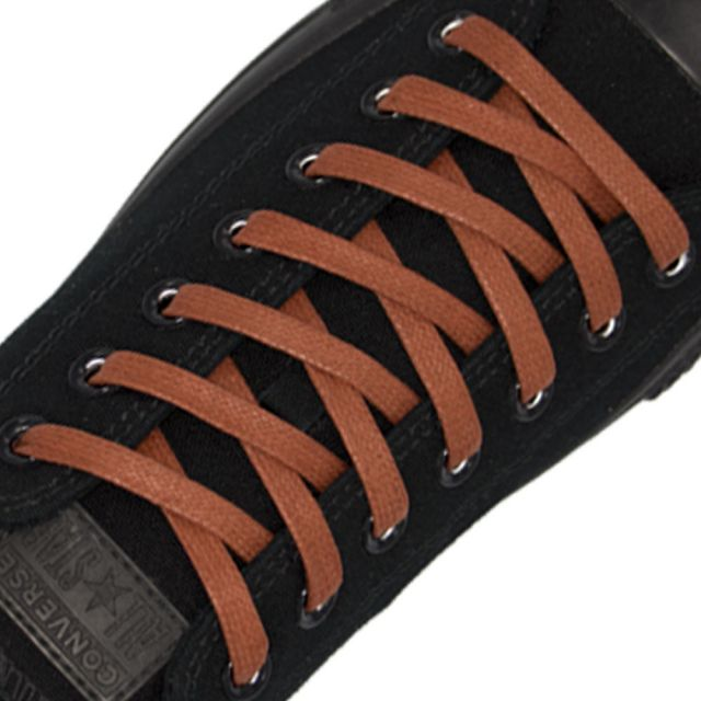 Length: 60cm | Width: 7mm | Flat Brown Wax Shoelace