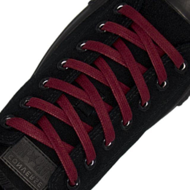Length: 60cm | Width: 7mm | Flat Dark Red Wax Shoelace