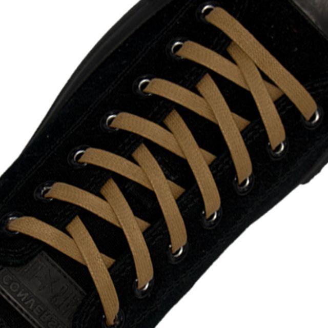 Length: 60cm | Width: 7mm | Flat Light Brown Wax Shoelace