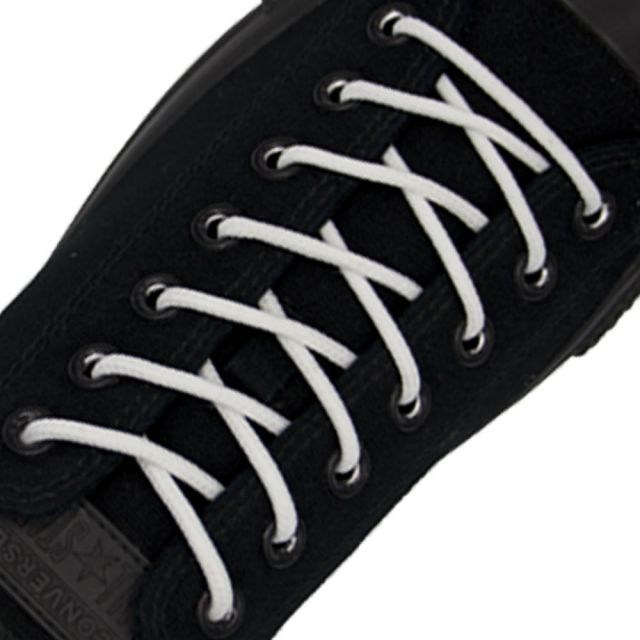 Polyester Shoelace Round - White Length 80cm Diameter 4mm