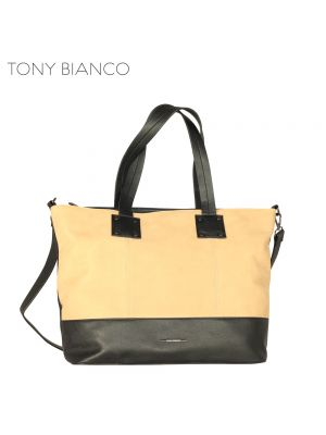 Tony Bianco - Time After Time Cairo Tote - Black / Beige - Front