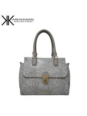 White Snake Shoulder Bag - Kardashian Kollection Handbags - Front
