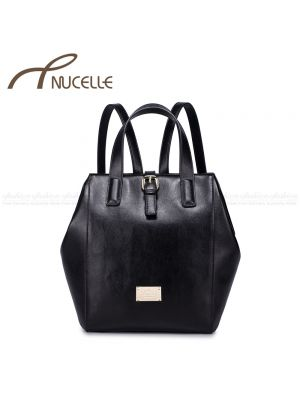 Black multifunctional Backpack - Nucelle Handbags - Front
