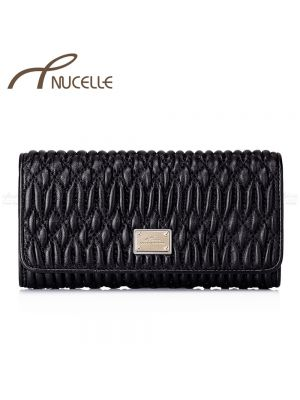 Long Sheep Black Wallet - Nucelle Purse - Front