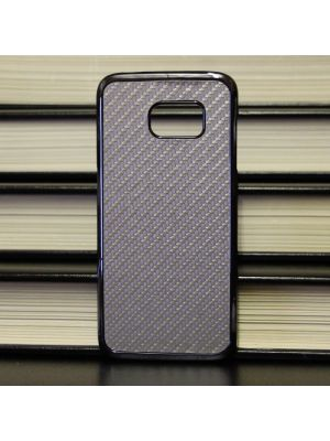 Samsung Galaxy Edge S7 - Tough Carbon Fiber Silver Case Back