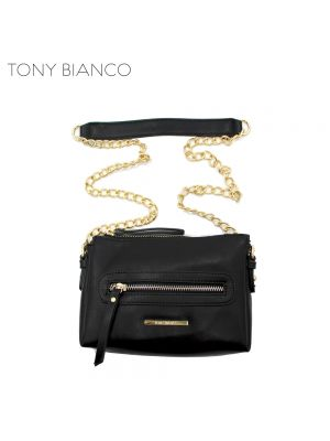 Zany Black Cross Body Bag - Tony Bianco Handbags - Front