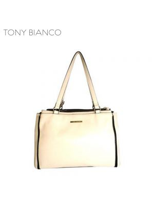 Darcy Beige Large Compartment Tote Bag - Tony Bianco Handbags - Front